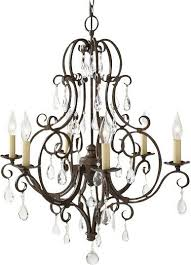 Royall 6 - Light Candle Style Empire Chandelier with <b>Crystal</b> Accents
