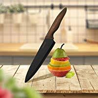 Hecef <b>Kitchen Knife Set</b>, <b>Stainless</b> Steel Non Stick Black Colour ...