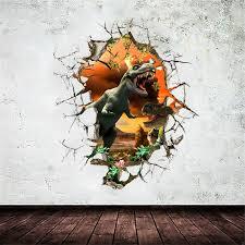 <b>Best</b> Promotion!! Popular <b>3D Dinosaur</b> Jurassic Park Wall <b>Sticker</b> ...