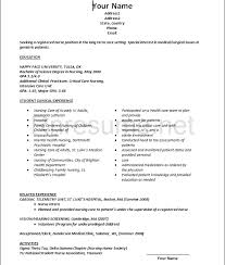 sample resume nurse with experience examples of nurse resume objectives in resume for nurses