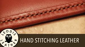 Hand <b>Stitching Leather</b> - YouTube