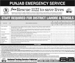 tehsils punjab rescue vacancies i online apply nts rescue 1122 vacancy 2016