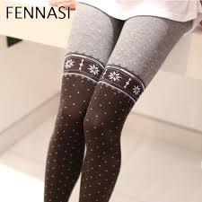 <b>FENNASI</b> Women Thick Warm Pantyhose With Print Polka Dot ...