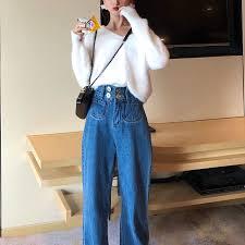 <b>2019 Summer new</b> arrival <b>Korean</b> style retro high waist loosely ...