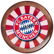 <b>Часы круглые из</b> дерева FC Bayern #339003 от 100pari