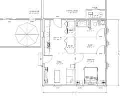 The In law Apartment Home Additionblueprint view of In law Apartment