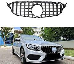 Amazon.co.jp: <b>W205</b> GT Grille Silver for <b>Mercedes</b>-<b>Benz C</b>-<b>Class 14</b> ...