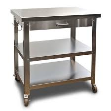 view kitchen cart stainless steel