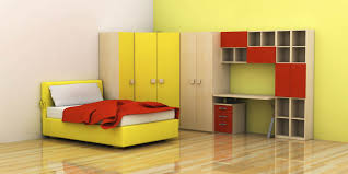 themed kids room designs cool yellow:  kids bedroom minimalist contemporary kids room with contrast red and yellow coloring scheme simple childrens