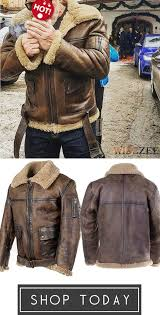 <b>Men's</b> Vintage Leather With <b>Plush Jacket Coat</b> | Gentlemen wear ...