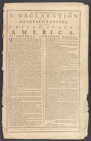 publishing the declaration of independence robin shields printed edition of the declaration of independence