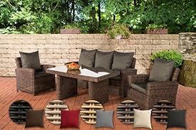 CLP <b>Poly</b>-<b>Rattan Garden Furniture</b> FISOLO, 5 mm ROUND rattan ...