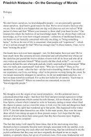 friedrich nietzsche on the genealogy of morality first essay    friedrich nietzsche on the genealogy of morality first essay