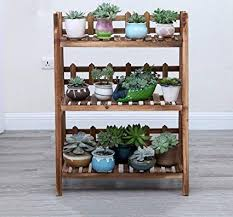 WENYAO Flower stand, <b>solid wood balcony</b> living room <b>wall</b> ...