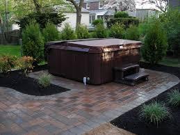 patio stone backyard landscaping