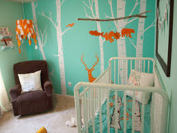kids room blue wall with forest themes white metal baby crib excerpt cool bedrooms bedroom furniture teen boy bedroom baby