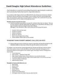 attendance policy david douglas high school ddsd attendance guidelines 2015 16