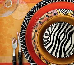 south african decor: south african inspired pottery hand painted by artisans in zimbabwe