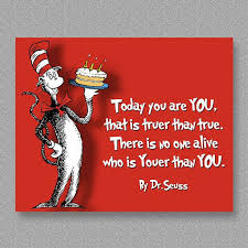 Dr. Seuss Quote Birthday Wall Art Print Printable by CustomBazaar ... via Relatably.com