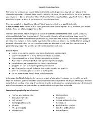 biology synoptic essay aqa synoptic essay notes