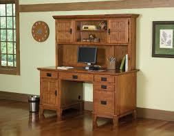 home styles arts crafts pedestal desk hutch cottage oak home furniture home office furniture desks hutches arts crafts home office