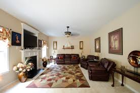 living room arrangements experimenting: marvelous furniture decorating ideas arrangements of spacious residence living room displaying modern dark brown bonded leather