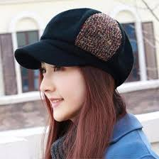 RangYR <b>Autumn and Winter</b> Cap Fashion Knit Visor Beret ...
