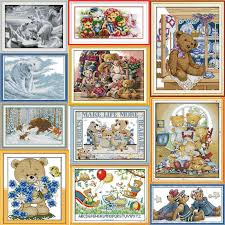<b>Joy sunday</b> All kinds of <b>dog</b> series cross stitch pattern kits handcraft ...