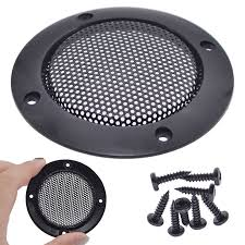 <b>Mayitr 2pcs</b> 3 <b>Inch</b> Black Speaker Cover Mesh Grill Metal Audio ...