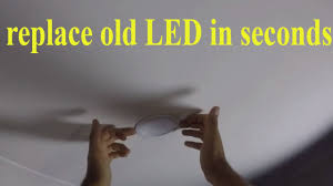 how to replace <b>LED</b> recessed <b>downlights</b> - remove and install ...