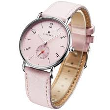 Cute Pink <b>Women Watches</b> Kingsky Casual Leather Strap Analog ...
