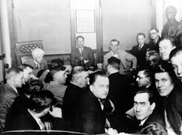 cheating in sports has a long history com judge kenesaw mountain landis rear left interrogates players of the chicago white sox