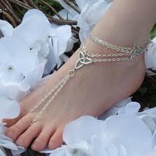 One Celtic <b>Barefoot Sandal</b>, Irish Pride, Celtic Knot, <b>Infinity</b>, <b>Anklet</b> ...