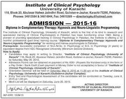 Admission in Institute of Clinical Psychology Complementary Therapy Diploma jpg First