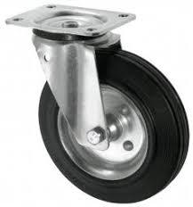 <b>Колесо поворотное на площадке</b> 125мм черная резина - купить в ...