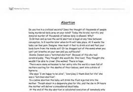 arguments against abortion essay philosophy of life