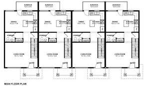 Economical Multi Family Dwelling   House Plan HuntersPlan No  Main Floor Plan