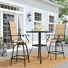 Outdoor <b>3 Piece Bar Set</b> | Wayfair