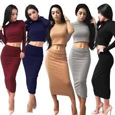 <b>Sexy</b> Women Skirt Set Strapless Crop Top <b>Camis</b>+Slim Pencil Skirt ...