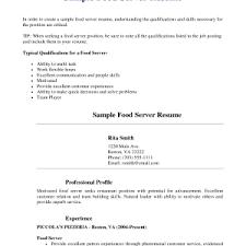 resume template for restaurant server fresh resume template for restaurant server cover letter fair restaurant restaurant server sample resume