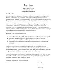 best operations manager cover letter examples   livecareeroperations manager cover letter examples