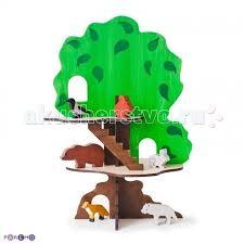 <b>Деревянная игрушка Paremo</b> конструктор Дом-дерево с 6 ...
