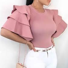 <b>Fashion Women</b> Lace Blouses <b>Sexy</b> Half See through Shirt Casual ...