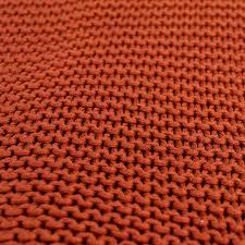 <b>Плед жемчужной вязки терракотового</b> цвета Essential, 180х220 ...
