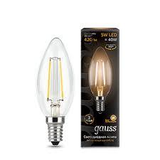 Лампочка 103801105 <b>Лампа Gauss LED Filament</b> Candle E14 5W ...