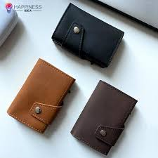 EasyAccess RFID Blocking <b>PU Leather Wallet</b> – Happiness Idea