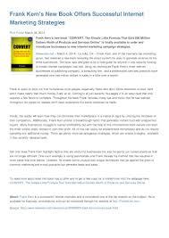 frank kern s new book offers successful internet marketing strategies