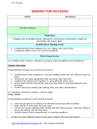 resume for welder resume for welder 4703