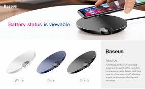 <b>Baseus</b> светодиодный Qi Беспроводное <b>зарядное устройство</b> ...