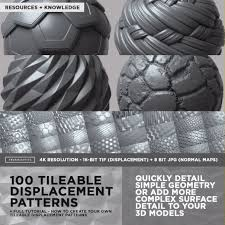 COMPLETE <b>PACK</b> - <b>100</b> Tileable Displacement/Alpha Patterns Part 1
